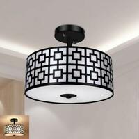 Industrial Flush Mount Light Fixture Vintage Pendant Ceiling Lightings Bedroom