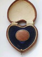 Vintage Sterling Silver Brooch Natural Stone  6.28gr