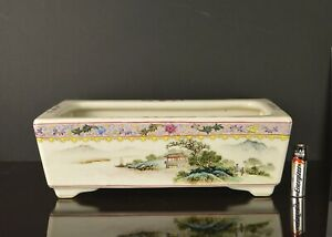 A VERY FINE & PERFECT CHINESE REPUBLIC PERIOD RECTANGULAR PORCELAIN PLANTER