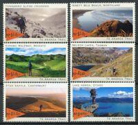 New Zealand NZ 2019 MNH Te Araroa Trail 6v Set Hiking Landscapes Tourism Stamps
