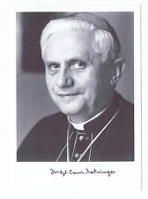 Papa Benedetto XVI il cardinale Joseph Ratzinger-originale con firma autografo cartolina