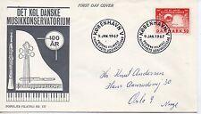 Dinamarca Musica Sobre primer día del año 1967 (DC-109)