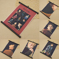 1 Pc Kpop EXO Wall Hanging Poster Scroll Painting Picture Home Decor Fashion DIY