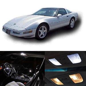 1993-1996 Chevrolet Corvette C4 White Interior LED Lights Package Kit 25 pcs