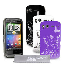 Accessories For The HTC Desire S Best Hard Floral Butterfly Case Cover Skin UK