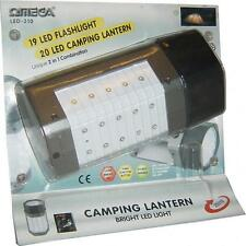 Omega 25310 LED Camping Travel Lantern Torch Spot Light Flashlight Ultra Bright