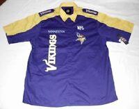 Minnesota Vikings Endzone Shirt 2XL Pit Crew Style NFL Specialty Logos