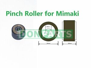 1x Pinch Roller for Mimaki Plotter 4mmx10mmx14mm Rubber Cover NEW