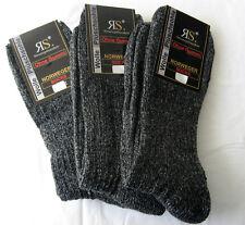3 Paar Socken Norwegersocken mit Wolle Wandersocken  schwarz XXL =  47 bis 50