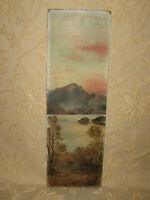 Victorian Original Oil Painting On Board ''Landscape''  Signed By A. M. I - 1890