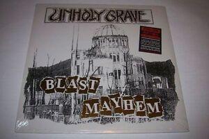 "UNHOLY GRAVE ""BLAST MAYHEM"" LP NEW & SEALED! OLD SCHOOL GRINDCORE!"