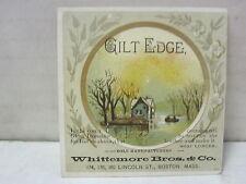 Gilt Edge Whittemore Bros & Co. Boston, Massachusetts Trade Card