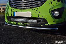 To Fit 2014+ Opel Vauxhall Vivaro Steel Front Bumper Spoiler Nudge City Bar