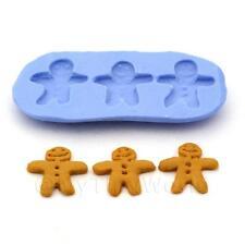 Miniatura Per Casa Delle Bambole 3 Pezzi Omini Pan Di Zenzero Stampo In Silicone