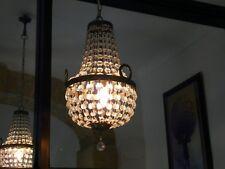 ANCIEN LAMPE LUSTRE EN CRISTAL ANNEES 60