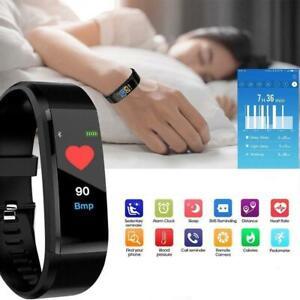 Smart Watch Bracelet Fitness Tracker Health Monitor BP Pulse Heart Rate Temp