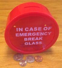 New EMERGENCY Money Bank Piggy Savings Coin Piggy Cash Collectible Safe Toy BOX