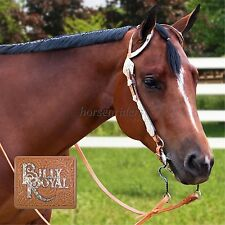 Billy Royal Silver Show Bridle - Headstall - Teardrop Crystal -Light Oil Leather