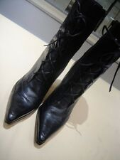 Nine West Deshanar Pointy Toe High Heel Lace Up Front Boots