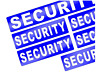 6 X REFLECTIVE SECURITY BADGE STYLE STICKER DECALS                        (s431)