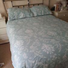 Dorma King size Duvet Set 100%Cotton Crisp Fresh Duckegg /White Top Quality* NEW