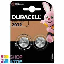2 DURACELL CR2032 LITHIUM BATTERIES BLISTER 3V COIN CELL DL2032 EXP 2027 NEW