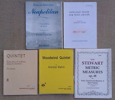 SHEET MUSIC & BOOKLETS FOR WIND QUINTETS AND WIND GROUPS