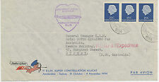 "2415 NL 31.10.1954, Erste KLM Super Constellation Flug ""AMSTERDAM - SYDNEY"""