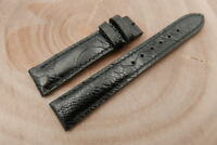 18mm/16mm Black Genuine OSTRICH Skin Leather Watch Strap Band Hanmade