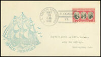 MAY 12 1932 Alexandria VA Cds, USS FRIGATE CONSTITUTION / OLD IRONSIDES Cachet!