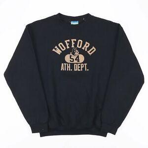 CHAMPION Eco Fleece Wofford  Black College Crew Neck Sweatshirt Boys XL