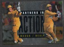 FUTERA 1996 CRICKET ELITE STEVE WAUGH & IAN HEALY PARTNERS CARD No 52