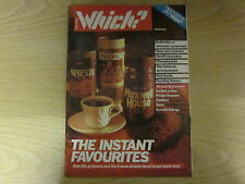 March 1987, WHICH? MAGAZINE, Instant Coffee, Cookers, Curtain Fittings, Fridges.