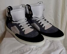 $1150 NIB JIMMY CHOO MEN'S BRADLEY LUXURY HIGH TOP SNEAKERS EU 46 US 12