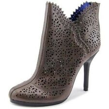 Juicy Couture Karina Leather Boots Sz 10 Laser Cut Ankle Booties NEW $348