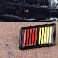 JDM Black Red Yellow ABS Front Grille Badge Fit For Mitsubishi Lancer Evolution