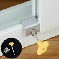 Aluminum Safety Locks Window For Home Adjustable Slide Goo Door Stopper E6G6