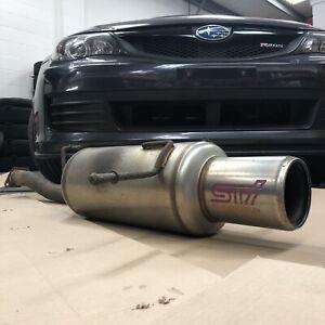 Subaru Impreza STI Genome Exhaust Muffler Silencer Back Box WRX GDA GDB JDM Rare