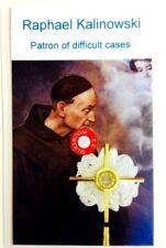 St Raphael Kalinowski relic card Discalced Carmelites, patron of poor