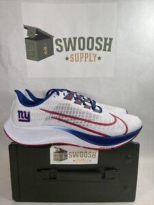 Nike New York Giants Zoom Pegasus 37 Running Shoes Size 12.5 Cz5452-100 NFL