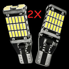 2x 6000K White 45 SMD 4014 Error Free LED  T15 W16W Car Reverse Back Light Bulb