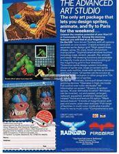 1988 Firebird Advanced Art Studio Commodore 64 Atari ST Vtg Print Ad