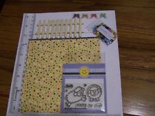 FLAVOR OF THE MONTH COLLECTION CARD KIT Sunny Studio SHEEP STAMPS PAPER SEQUIN