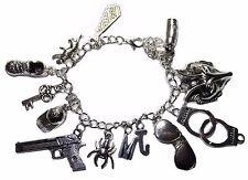Sherlock Holmes Silvertone Metal Charm Bracelet