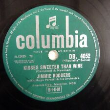 78rpm JIMMIE RODGERS kisses sweeter than wine / better loved you'll never be