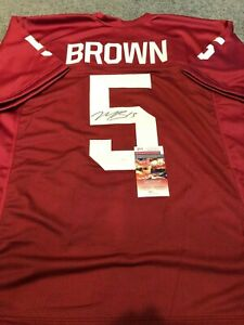 OKLAHOMA SOONERS MARQUISE BROWN AUTOGRAPHED SIGNED JERSEY JSA  COA