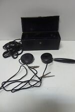 ANTIQUE POCKET AUROPHONE MEARS EAR PHONE IN CASE NY SCIENCE LABORATORY MEDICAL