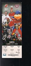 MONTREAL CANADIENS TICKET STUB, 1-9-2010, VS NEW JERSEY DEVILS