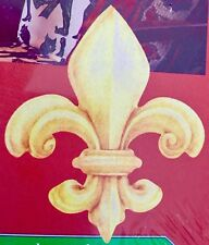 WALLIES: Large Gold Fleur-di-Lis Wall & Project Stickers NEW ORLEANS NOLA 12054