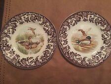 2 Spode Woodland Salad Plates -Wood Ducks & Mallard